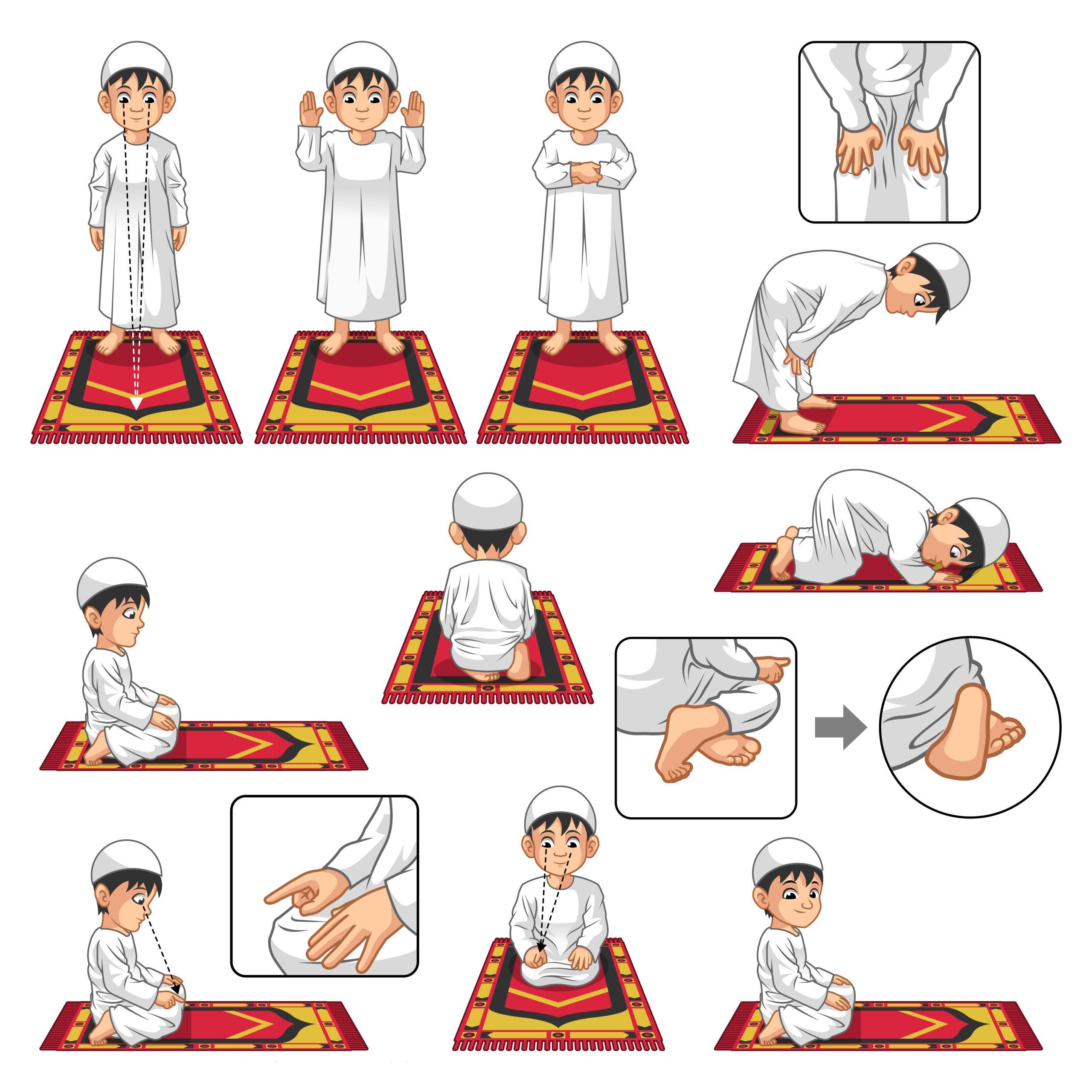 Islamitische lessen voor kinderen stap voor stap het gebed leren